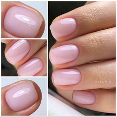 The length of natural nails do not prevent us from doing housework and they also reflect our pursuit of exquisite life in a busy workplace. The colors and patterns of natural nails are simple and generous but not overly exaggerated. Frensh Nails, Nail Manicure, Swag Nails, Cute Nails, Pretty Nails, Hair And Nails, Nail Polish, Pedicure, Classy Nails