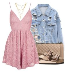 """""""summer feelz"""" by trinsowavy ❤ liked on Polyvore featuring Accessorize, Chanel, Birkenstock, Topshop and Ettika"""