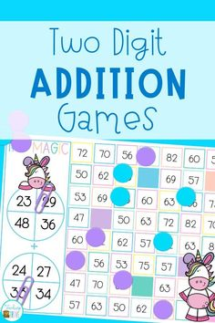Double digit addition with regrouping can be so much fun with games. Perfect for centers and small groups, your 2nd grade students are going to love learning to regroup with these addition games.#additionwithregrouping #regrouping #additiongames