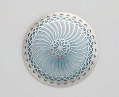 Jasmine Watson silver and enamel brooch