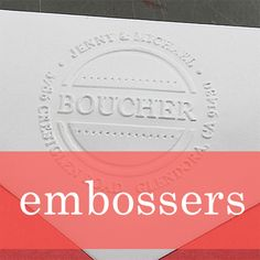 Add a touch of class and sophistication to invites, cards and more with a personalized embosser. | Rubberstamps.com