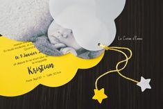 Son faire part de naissance (oui oui un an en retard) - Le Carnet d'Emma    grossesse, papeterie, happiness moment, naissance, nuage, petit garçon, baby, bébé