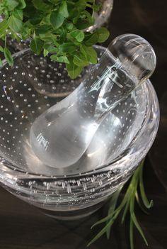 Vihma glass mortar by Mafka.