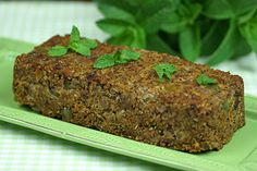 Mixed-nut vegan loaf - Recipes - Eat Well (formerly Bite) Vegan Loaf, Raw Vegan, Nut Loaf, Great Vegan Recipes, Vegetarian Recipes, Vegan Meals, Loaf Recipes, Cooking Recipes, Easy Meatloaf