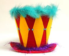 Circus Circus Top Hat, Circus Party decoration, Big Top, Party Hat