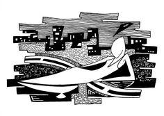 Francois Pretorius - Of Heart & Home 042 (2013) #art #illustration #b&w #design #africa #fineart #city