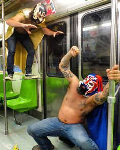 ...The highlight of the night without question was the midnight Lucha Libre Mexican Wrestling match that Clint and I had against each other on the subway train.  There were only a few people on the metro on their normal journey home but it is certain that they will never forget that train ride... _________________________________________________ - For the story and full video of the craziness here is the link!: http://ift.tt/2hpMUNd  DF Mexico City Mexico.  Feel free to 'repost' and 'share'…