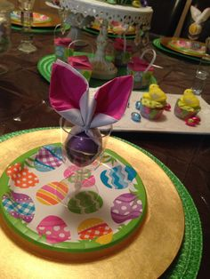 Bunny Ear Napkin Fold for Easter