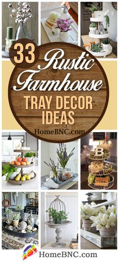 Vintage Farmhouse Decor 33 Best Farmhouse Style Tray Decor Ideas and Designs for 2018 - Farmhouse style tray decor ideas that will create a beautiful decorative display while making your home more organized. See the best designs and find your favorite! Country Farmhouse Decor, Rustic Decor, Farmhouse Style, Rustic Style, Farmhouse Ideas, Vintage Farmhouse, Nest Design, Farmhouse Living Room Furniture, Rustic Furniture