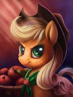 Equestria Daily: AJ Day: Art, Wallpapers, and 3D!