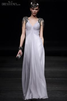 Princess A-line Capped Floor-length Evening Event Dress