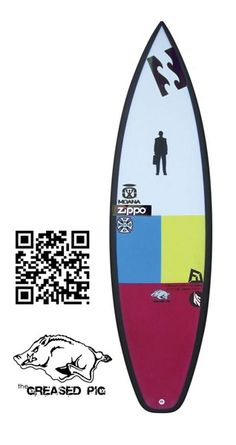 """Proctor Surfboards Peter Mendia's Greased Pig II  DESIGNER  Todd Proctor  MODEL  Proctor Surfboards Peter Mendia's Greased Pig II  DIMENSIONS  6'0"""" X 19"""" X 2 3/8""""  FINS  FCS Fusion with True Ames RTM Hexcore  CONSTRUCTION  Carbon footprint    http://www.proctor-board-shop.com/Greased_Pig_p/gpig-mendia.htm"""