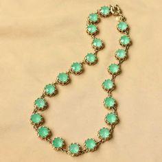 Erinite Gemstone Gold Necklace DC55N6033 $16.50