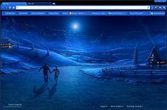 Winter Night in Moonlight Google Chrome Theme