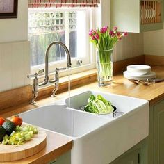 Modern Kitchen Sinks Adding Decorative Accents to Functional Kitchen Design @sharonlhes