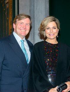 Koning Willem-Alexander en Koningin Maxima bij Openingsconcert Nederlands Voorzitterschap EU. Jan. 22, 2016