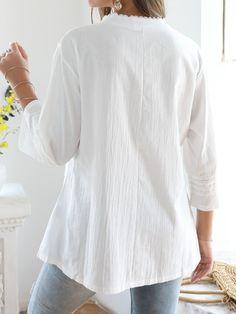 Travel Couture kragenlose Bluse neu Gr.42,44