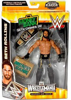 WWE Wrestling Elite Collection WrestleMania 31 Seth Rollins Exclusive Action Figure [Money in the Bank] Figuras Wwe, Aj Styles Wwe, Wrestlemania 31, Wwe Game, Wwe Seth Rollins, Eddie Guerrero, Wwe Toys, Nxt Takeover, Wwe Action Figures