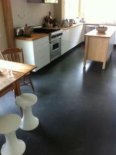 polished concrete floors over under floor radiant heat system