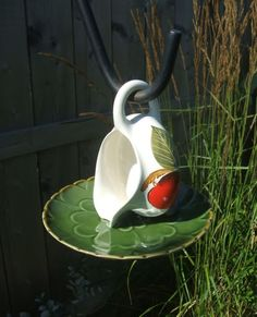 For the BIRDS :: upcycled creamer birdfeeder by urbangardensweb image by sangaree_KS - Photobucket
