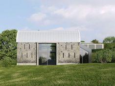 Dingle Barn by Nicolas Tye Architects Contemporary Barn, Modern Barn, Modern Farmhouse, Stone Barns, Stone Houses, Tythe Barn, Normal House, Barn Renovation, Residential Architect