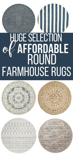 Have you ever considered using round rugs in your home decor? Check out this ultimate guide to farmhouse style round rugs and try one in your home today!#TwelveOnMain #rugs