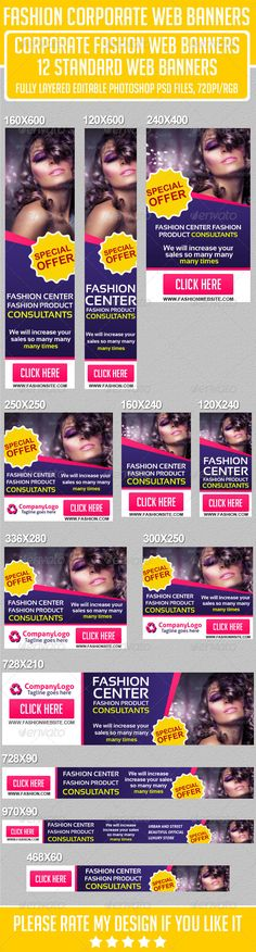 Fashion Multipurpose Web Banners