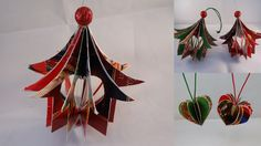 """Recycled Christmas Card """"Heart House"""" Ornament - with yoyomax12"""