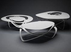Curl Tables by Constanze Schweda
