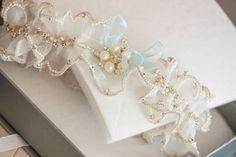 Beaded Bridal Garters - Mi Pearl