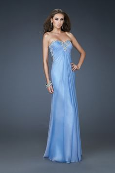 Sexy Open Back Prom Dress Sweetheart Chiffon With Applique