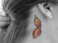 Phoenix Feather Tattoo...most genius thing ever. why haven't i thought of this?! way better than the normal bird feather! def getting this one day!