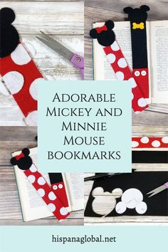 If you have Disney lovers at home, these adorable Mickey and Minnie Mouse bookmarks will make everybody want to grab a book. This step by step DIY will allow you to make this craft for your kids or have them join you for a fun family activity. Disney Home, Disney Diy, Disney Crafts, Disney Recipes, Disney Ideas, Party Themes, Party Ideas, Disney College Program, Felt Bookmark