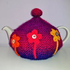 Craft a cure for cancer free tea cosy patterns: Basic knitted cosies