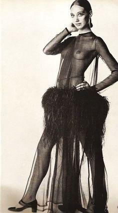 Marisa Berenson, by David Bailey, Modeling YSL