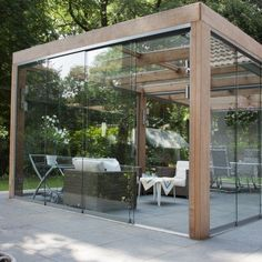 - TV Unit Models & Ideas - 30 Amazing Enclosed Patio Ideas We share decoration ideas about your home incl. Patio House Ideas, Outdoor Decor, Modern Pergola, Patio Design, Pergola With Roof, Enclosed Patio, Glass House, Pergola Designs, Glass Room