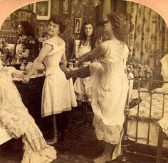 Victorian Ladies in Undergarments