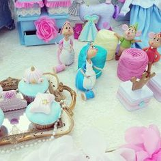 Princess Cinderella Birthday Party via Kara's Party Ideas : Cute props Cinderella Crafts, Cinderella Theme, Cinderella Birthday, Princess Birthday, Cinderella Decorations, Cinderella Centerpiece, Disney Princess Party, Bday Girl, Birthday Party Themes