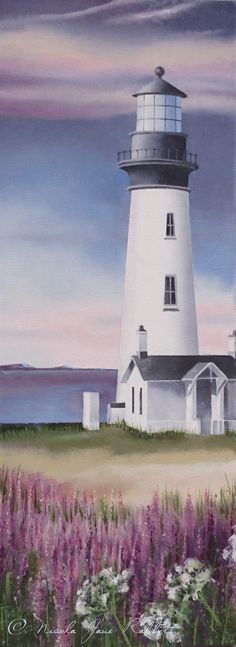 'Lighthouse View' by Nicola Jane Rabbett. A new oil painting from Nicola's 'Land and Sea' Series, which will be exhibited at Draycott Art Fair - Saturday 28th March 2015, 10am - 4pm. For more info on Nicola's Events, visit: www.nicolajanerabbett.com #paintings #stivespaintings #artist #artevents #artistonthenet #art