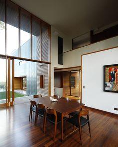 Interior aspect of Rosalie Residence in Queensland, Australia by Richard Kirk Architect