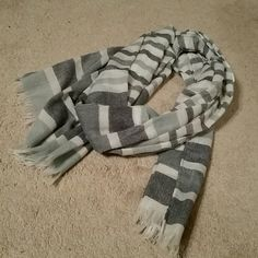 Blue and green striped scarf Scarf with white blue and green stripes. Accessories Scarves & Wraps