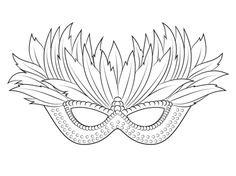 MASKS coloring pages : 9 online printable masks templates to color ...