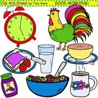 Clip Art Good Morning in color - Freebie