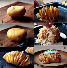 Receitas Supreme – Receita de Batata hasselback (batata laminada)