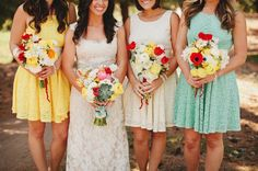 Wedding Trends we love: Lace bridesmaid dresses