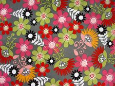 fabric by the yard brother sister fabric Cosmo Meadow Floral Fabric. $7.99, via Etsy.