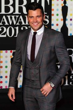 Mark Wright from TOWIE at 'The Brits' 2013