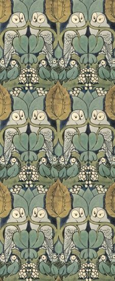 William Morris, Owl Pattern. Wm Morris was a renaissance man in the best sense of the word. What a guy! Love his stuff.