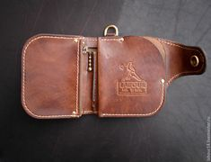 Купить Портмоне кожаное Labour 67(с полукольцом) - коричневый, латунная фурнитура, натуральная кожа, labour