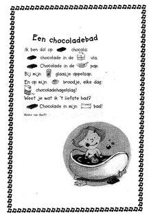versje chocoladebad Literacy, Poems, Chocolate, Fruit, Poetry, Verses, Chocolates, Brown, Poem